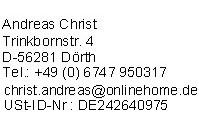 Impressum von GuenstigeUnfallversicherungen.de